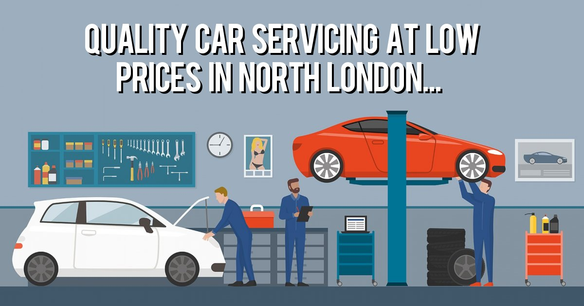 Quality Car Servicing at low prices in North London...